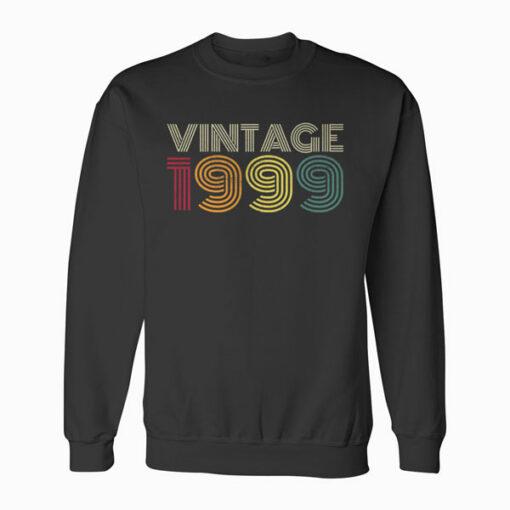 21st Birthday Gift Vintage 1999 Classic Men Women 21 Years Sweatshirt