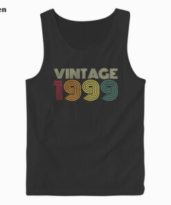 21st Birthday Gift Vintage 1999 Classic Men Women 21 Years Tank Top
