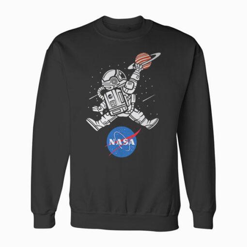 Astronaut Basketball League Slam Dunk NASA Sweatshirt