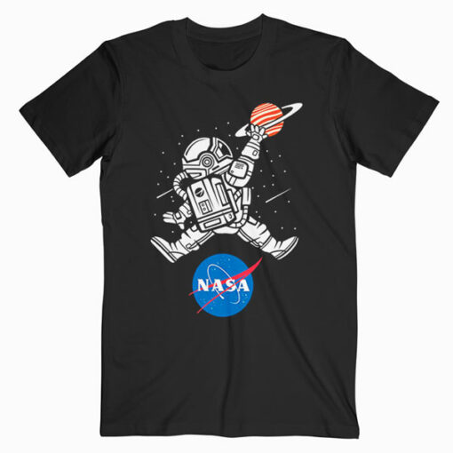 Astronaut Basketball League Slam Dunk NASA T Shirt
