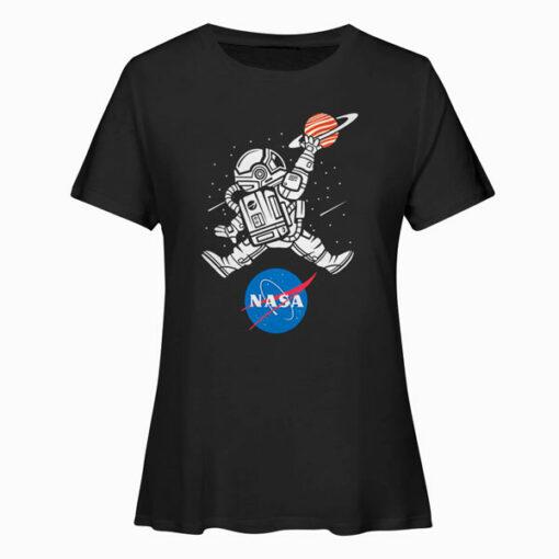 Astronaut Basketball League Slam Dunk NASA T Shirt
