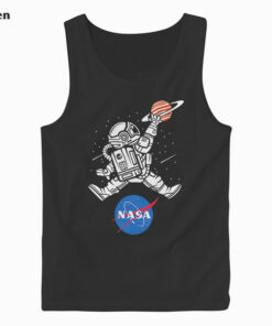 Astronaut Basketball League Slam Dunk NASA Tank Top