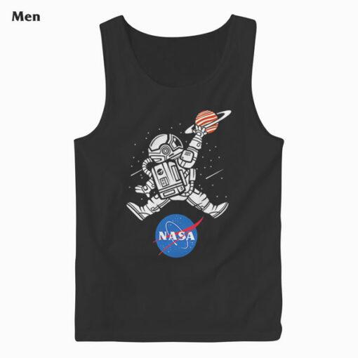 Astronaut Basketball League Slam Dunk NASA Tank Top