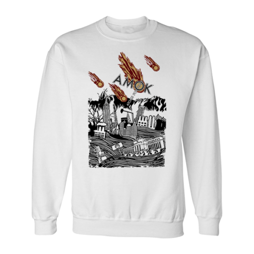 Atoms For Peace Inspired Artwork Amok Thom Yorke Radiohead Band Sweatshirt