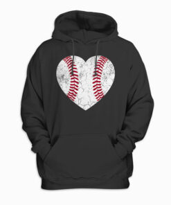 Baseball Heart Fun Mom Dad Men Women Softball Wife Gift Pullover Hoodie