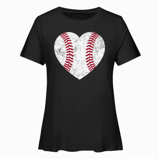 Baseball Heart Fun Mom Dad Men Women Softball Wife Gift T Shirt