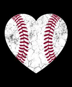 Baseball Heart Fun Mom Dad Men Women Softball Wife Gift
