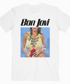 Bon Jovi Rock Band Bon Slippery Band T Shirt