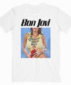 Bon Jovi Rock Band Bon Slippery Band T Shirt