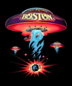 Boston Spaceship Classic Rock Album Cover Band T Shirt