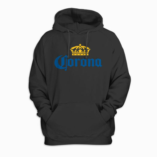 Classic Corona Logo With Crown Pullover Hoodie
