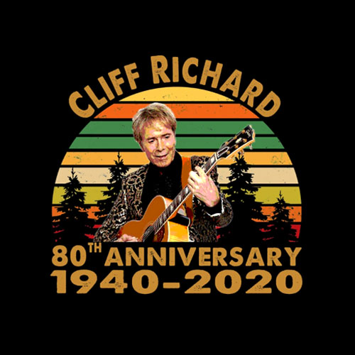 Cliff Richard 80th anniversary Classic T-Shirt