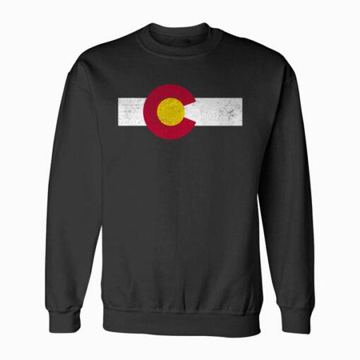 Colorado Flag vintage Distressed Sweatshirt