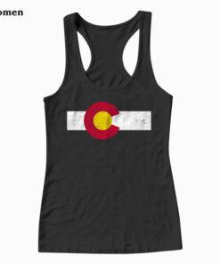 Colorado Flag vintage Distressed Tank Top