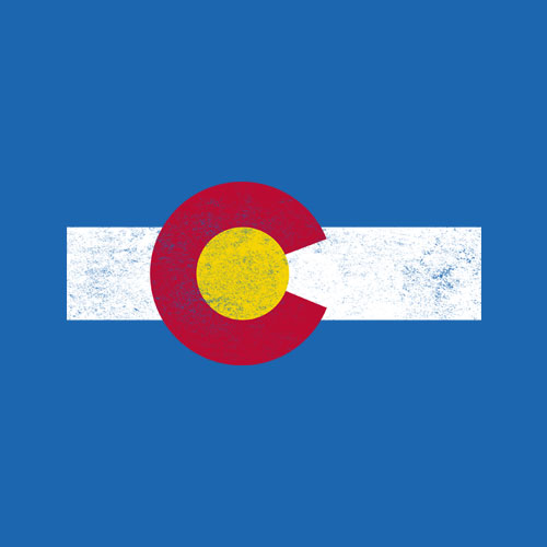 Colorado Flag vintage Distressed