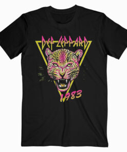 DEF LEPPARD Rock of Ages Neon Cat Band Tee - Band T Shirt