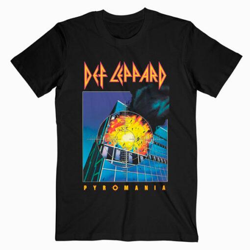 Def Leppard Pyromania Cover Slim Fit T shirt Band T-Shirt