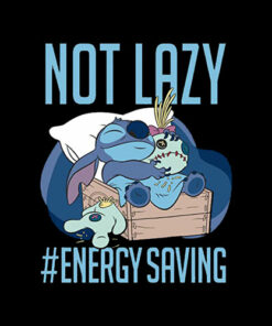 Disney Lilo & Stitch Not Lazy Energy Saving