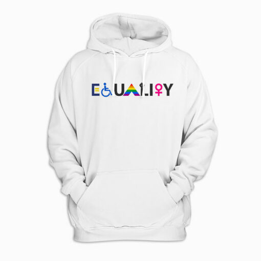 EQUALITY Equal Rights LGBTQ Ally Unity Pride Feminist Pullover Hoodie