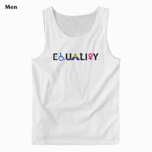 EQUALITY Equal Rights LGBTQ Ally Unity Pride Feminist Tank Top