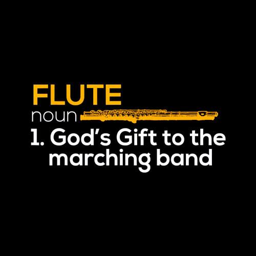 Flute Player Shirt Flutist Marching Band Music Gift T-Shirt - Band T Shirt