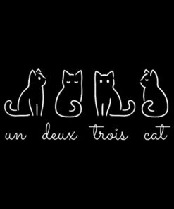 French Inspired Un Deux Trois Cat Funny French Joke Quote