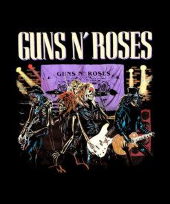 Guns N' Roses Appetite For Destruction Skeleton Band T-Shirt
