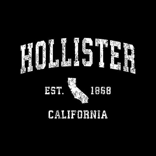 Hollister California CA Vintage Athletic Sports Design