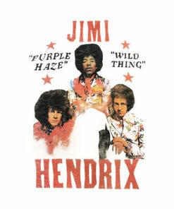 Junk Food Jimi Hendrix Wild Thing Mens T-Shirt Band T Shirt