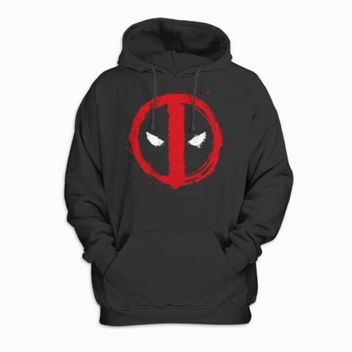 Marvel Deadpool Symbol Red Spray Paint Hoodie