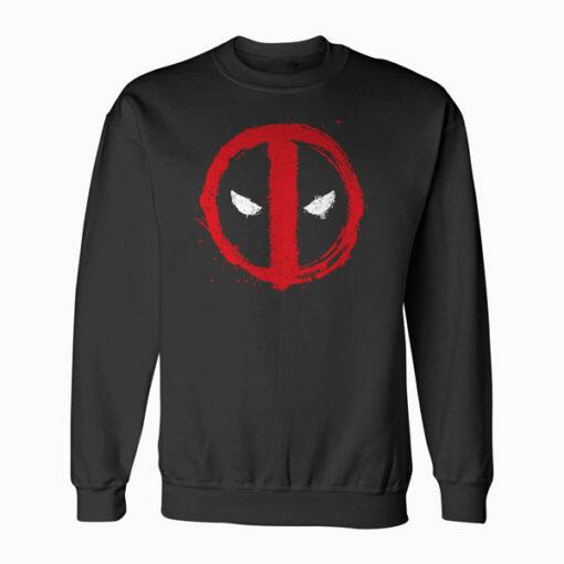 Marvel Deadpool Symbol Red Spray Paint Sweatshirt