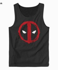 Marvel Deadpool Symbol Red Spray Paint Tank Top