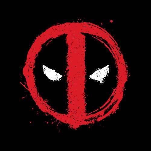 Marvel Deadpool Symbol Red Spray Paint