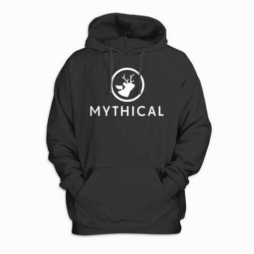 Mythical White Logo Pullover Hoodie