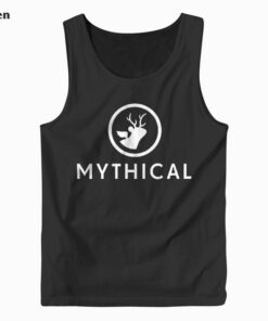 Mythical White Logo Tank Top