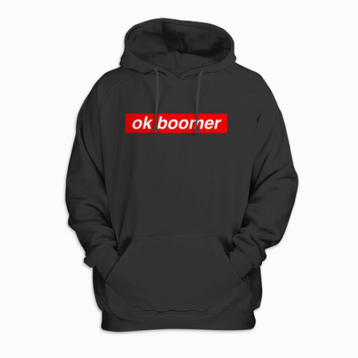Ok Boomer Red Box Funny Trendy Meme Gen Z Christmas Gift Pullover Hoodie