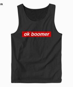 Ok Boomer Red Box Funny Trendy Meme Gen Z Christmas Gift Tank Top