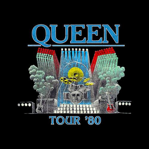 Queen Official Tour 80 Band T-Shirt