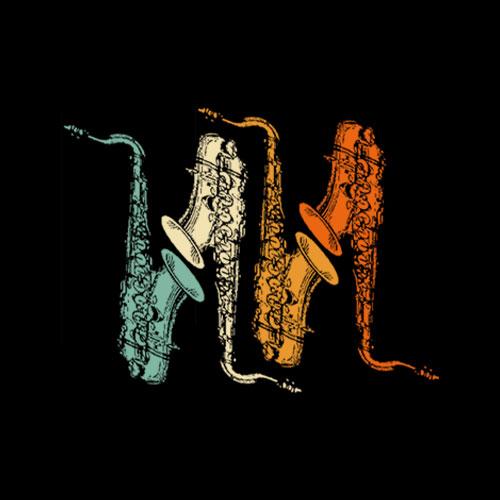 Retro Marching Band Alto Saxophone T-Shirt - Band T shirt