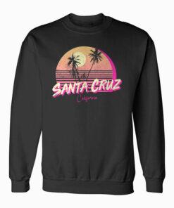 Retro Santa Cruz California Beach Sunset Sweatshirt
