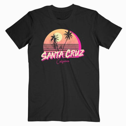 Retro Santa Cruz California Beach Sunset T Shirt