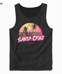 Retro Santa Cruz California Beach Sunset Tank Top
