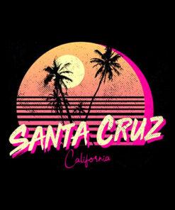 Retro Santa Cruz California Beach Sunset