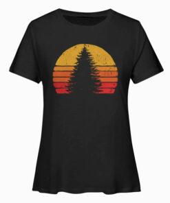 Solitary Pine Tree Sun - Vintage Retro Outdoor Graphic T Shirt