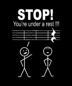 Stop you are under a rest funny musician t shirt gifts tee - Band T Shirt