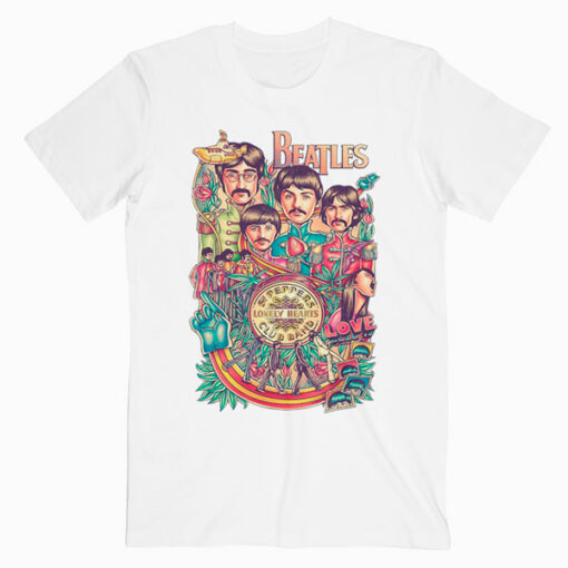The Beatles Art Poster Band T Shirt