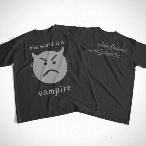 The World Is A Vampire Smashing Pumpkins Band T Shirt Front Back Sides