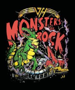 Van Halen Monsters Of Rock Vintage Band T Shirt
