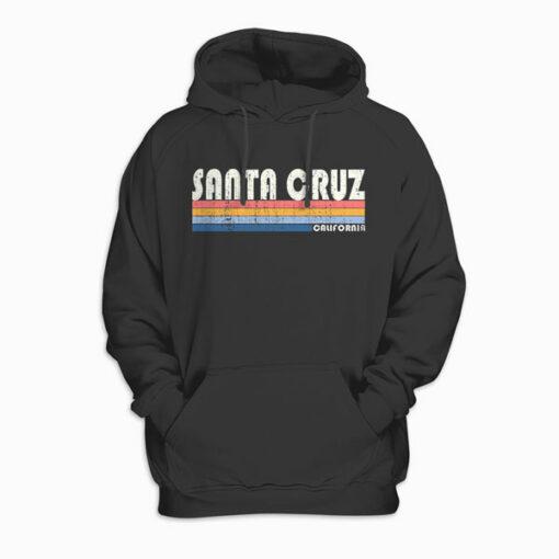 Vintage 70s 80s Style Santa Cruz CA Pullover Hoodie