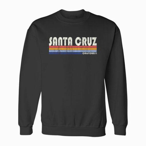 Vintage 70s 80s Style Santa Cruz CA Sweatshirt